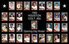 1962 Houston Colt 45 Astros Opening Day Baseball Card Poster 17x11 Unique Decor