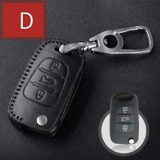 For Hyundai 3 Buttons folding Car key case bag Leather cover type D 1pc black
