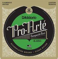 D'Addario EJ25C Pro-Arte Clear Nylon Composite Flamenco Guitar Strings
