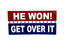 Wholesale Lot of 6 He Won Get Over It Blue Red Stars Decal Bumper Sticker