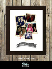 Best friend Christmas Gift, photo print, collage,, A4 print, Personalised print