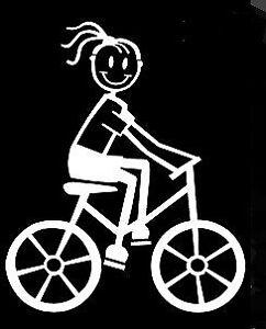 MY STICK FIGURE FAMILY Car Window Vinyl Stickers F17 Adult Female Bicycle Bike