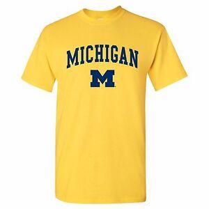 Arch Logo University of Michigan Wolverines Licensed Mens T-Shirt Unisex Tee
