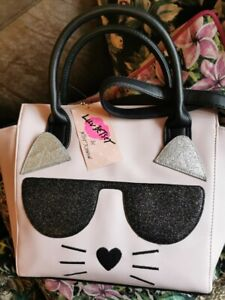 💋NEW LUV BETSEY Betsey Johnson Cat Pink handbag