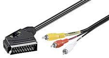 Audio-Video/Scart Cinch Kabel/Adapter 5 m,  Schaltbar IN/OUT RCA, AV