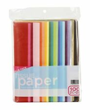 Tissue Gift Wrapping Crafting Paper Crafts Assorted Colors 100 Pieces Brand New