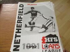 NETHERFIELD  V  RHYL   1991-2