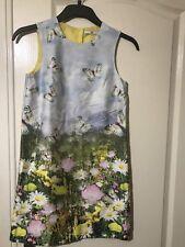 M&S AUTOGRAPH Cotton Floral Print Dress (7-8,11-12)