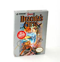 Castlevania 3 III Dracula's Curse (Nintendo NES) CIB Complete in MINT Box! RARE!