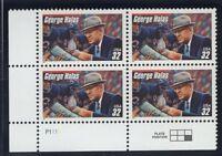 Sc # 3150 ~ Plate # Block ~ 32 cent George Halas Issue (dd23)
