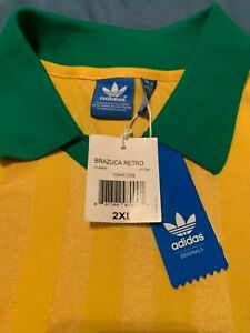 adidas brazil retro #10 soccer jersey