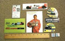 Ayrton Senna: Large Sticker Set #3 McLaren Formula One World Champion 1988 - 1st