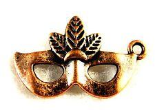50Pcs. WHOLESALE Tibetan Antique Copper Face MASK Halloween Charms Drops Q0503