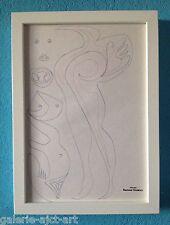 Raymond TRAMEAU Dessin de 1960 Encadré Braque Modigliani Femme Nue Organique
