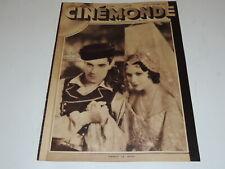 CINEMONDE 83/1930 French magazine Ramon Novarro, Dorothy Jordan, J Mac Donald