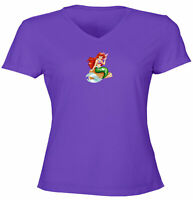 Juniors Girls Women Tee T-Shirt Gift Print Little Mermaid Cute Princess Ariel