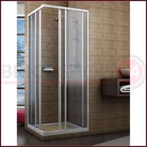 Box Doccia Acrilico Scorrevole Angolare 2 Lati Opaco 60x60 70x70 70x90 80x80