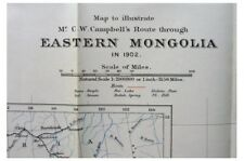 1903 Campbell - JOURNEYS from PEKIN to MONGOLIA - Unexplored China WITH MAP - 11
