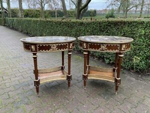 Two Amazing Side Tables in French Louis XVI style - worldwide shipping