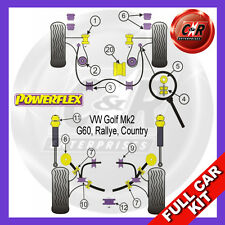 VW Golf Mk2 G60 Rallye Country 85-92 Powerflex Full Kit Lowr Engine Mount Insert