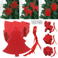 10x Christmas Decorations Tree Ornament Felt Cloth Hanging Accessories SuppliesN