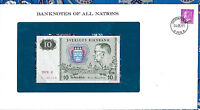 Banknotes of All Nations Sweden 10 Kronor 1979 serie K P52d AUNC BIRTHDAY 1982*