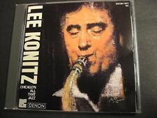 "LEE KONITZ ""CHICAGO'N ALL THAT JAZZ"" - JAPAN CD"