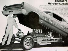1966 MERCURY CYCLONE GT ORIGINAL AD *Comet/390 v8/steering wheel/hood/door/panel