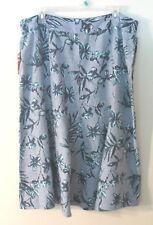 Womens JM Collection Blue Linen Skirt, NWT, Size 14