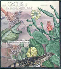 BURUNDI 2012 CACTI AND FAUNA OF AFRICA SOUVENIR SHEET MNH