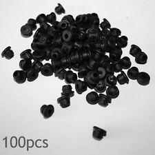 100 x Black TATTOO Needle Rubber Grommets Nipples UK