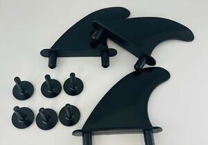 Basic Softboard Replacement Fins  Soft Board Surfboard Fins 3 x Fins 6 x Screws