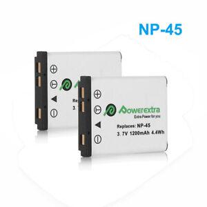 2x NP-45 NP-45A NP-45B NP-45S Battery for Fuji FinePix XP70 XP60 XP10 Z30 Z33WP