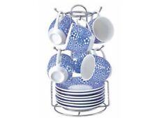 Tazzine Caffe' porcellana decorata con Appendino Borella DECORO Lazise x 6