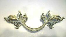 Vtg NOS Brass Antique White WATERFALL Dresser DRAWER Pulls Victorian Henry Link