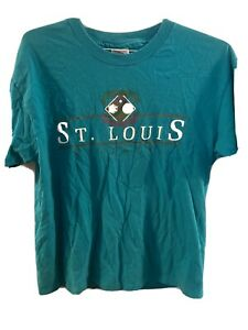 Vintage St. Louis Show Me State single stitch shirt 90s Size Large Big Print