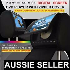 """2 x 9"""" inch HD Headrest Car 2 DVD Player Rear Monitor with Pillow For Nissan"""