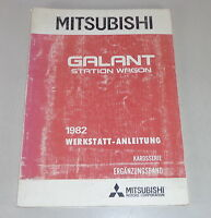 Workshop Manual Mitsubishi Galant Station Wagon A160 Supplement Body Mj 82