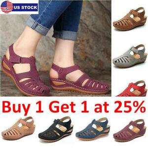 Women Orthopedic Sandals Comfy Closed Toe Mules Summer Slipper Flat Shoes Sizes