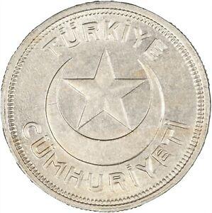 Turkey 1943 5 Kurus LUSTROUS UNC