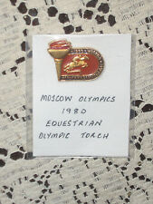 1980 Moscow Olympic Badge Nice Equestrian Olympic Torch