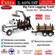 Big Farm Peterbilt Model 367 Logging Truck and Pup Trailor