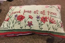 Friend Small Velour Pillow Rectangle Home Decor with Proverbs 11:17