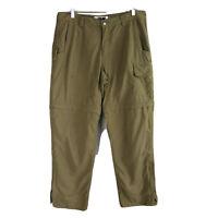 Mountain Khakis Convertible Hiking Cargo Pants Mens 36 x 32 Brown Nylon Outdoor