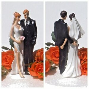 Tender Touch The Love Pinch Funny Sexy Bride & Groom Wedding Cake Topper RRP 28£