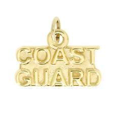 14Kt Yellow Gold Polished Coast Guard Charm Pendant