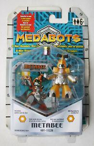 RARE 2001 MEDABOTS METABEE ROBATTLE FIGURE + GAME CARD & DIE HASBRO NEW SEALED !