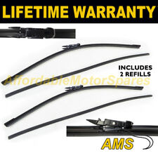 """FRONT WINDSCREEN WIPER BLADES PAIR 23"""" + 23"""" FOR SAAB 9-3 SALOON YS3F 2007 ON"""