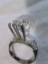 Large Faux Engagement Ring Brooch