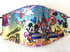 Mickey Mouse Magic Kingdom Face Mask Reversible HANDMADE IN USA - FREE SHIPPING!